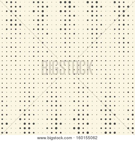 Seamless Vertical Stripe Pattern. Vector Pixel Background. Abstract Chaotic Dots Texture. Minimal Black and White Cryptography Graphic Design