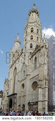VIENNA AUSTRIA - SEPTEMBER 6 2012: St.Stephen's Cathedral facade