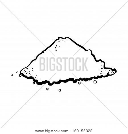 outline pile salt culinary kitchen vector illustration eps 10