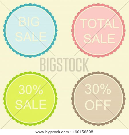 Sale 30 Off Label in pastel tones