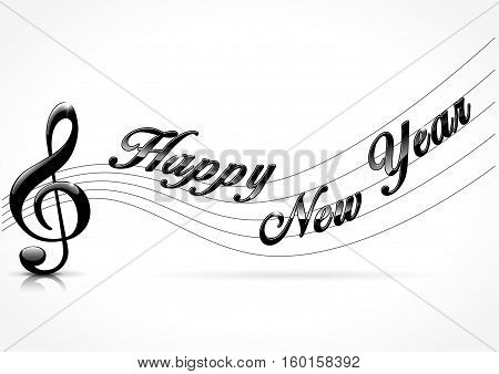 Illustration of musical happy new year concept