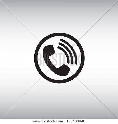 Call flat vector icon. Call isolated vector sign. Incoming call button illustration.