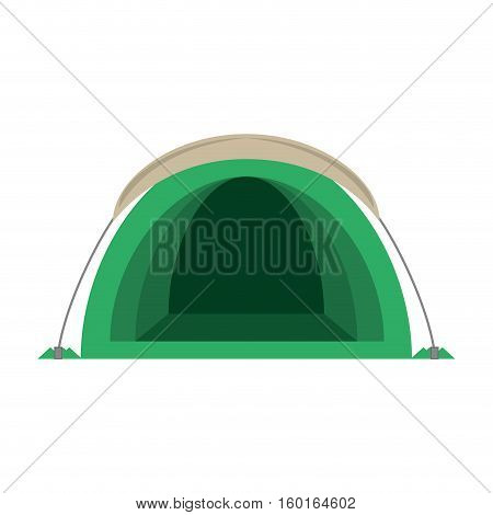 dome green tent hiking forest camping vector illustration eps 10