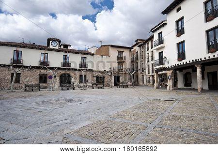 Main square of Covarrubias,province of Burgos, Spain