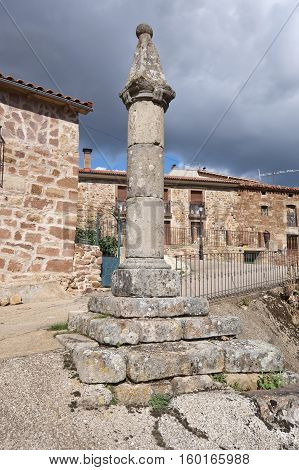 Pillory in San Millan de Lara, Burgos, Spain. It was building on XVIII century