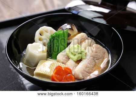 Jibuni, Kanazawa style duck meat stew, japanese food