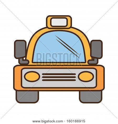 yellow bus vehicule land transport travel vector illustration eps 10