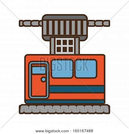 cable way cabine gondola vacation travel vector illustration eps 10