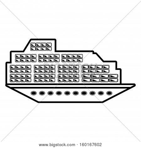 cruise boat transatlantic vacation recreation outline vector illustration eps 10