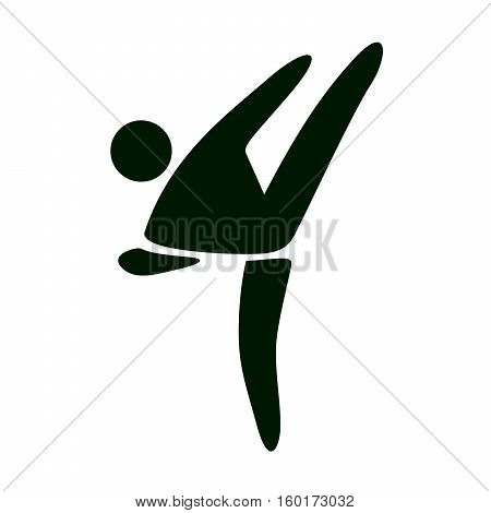 Karate kick vector icon on white background