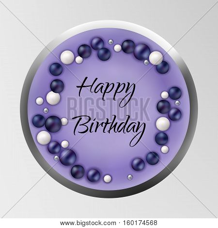 Birthday cake isolated on background. Vector Illustration for use as a Birthday Card, pastry logo, festive background, web or any other design situations