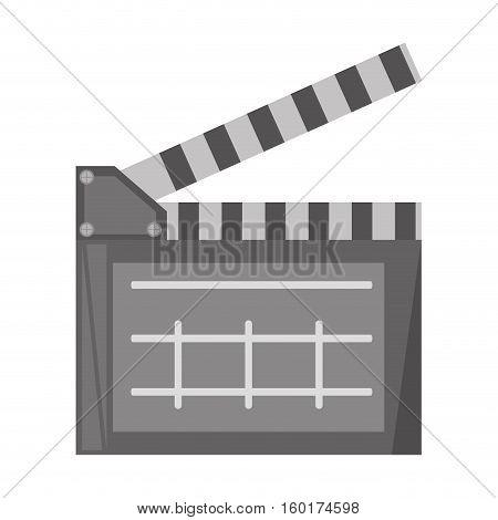 film clapper chalkboard scene icon vector illustration eps 10
