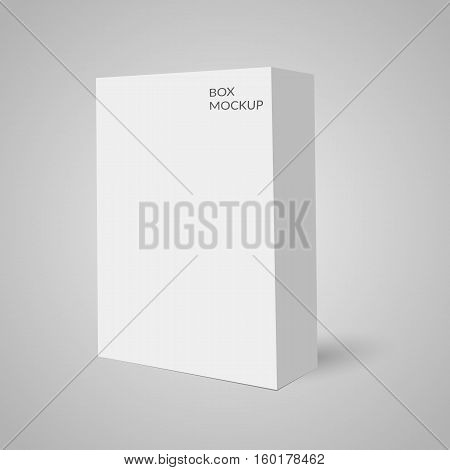 Cardboard Package Box Mockup Template Isolated Ready For Your Design Vector Illustration Eps 10