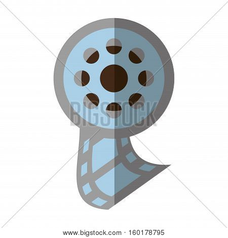 reel film movie wheel icon shadow vector illustration eps 10