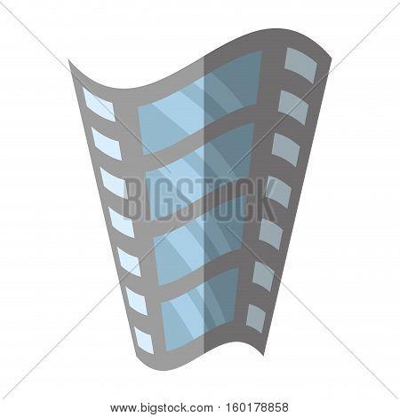 film strip negative equipment video shadow vector illustration eps 10