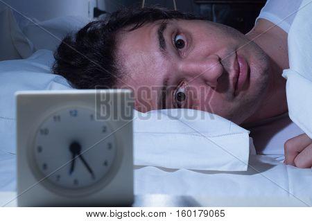 Stressed Man Insomnia