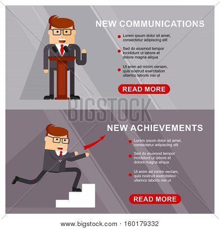 Business Banner Communication