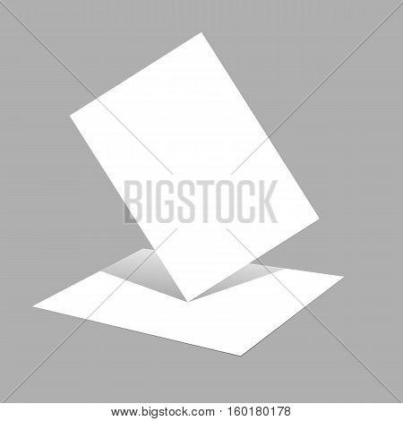Magazine Booklet Postcard Business Card Or Brochure Mockup Template Vector Illustration Eps 10