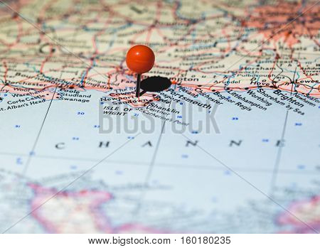 Isle of Wight pinned on the map