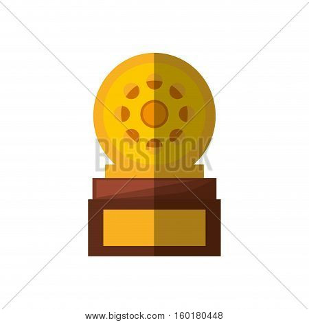 movie industry trophy awards shadow vector illustration eps 10