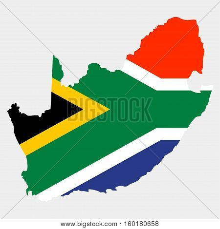 Territory of South Africa on a grey background
