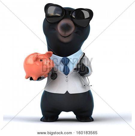 Fun bear - 3D Illustration
