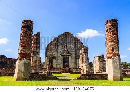 The Phra Si Mahathat temple Lopburi Province in Thailand