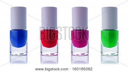 Set Of Multicolored Nail Polish