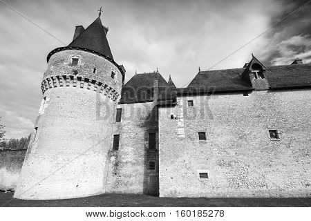 French Castle, Black And White