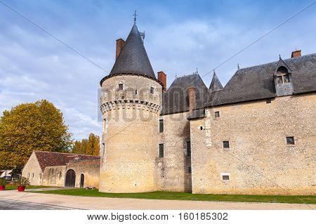 Medieval French Castle In Loire Valley