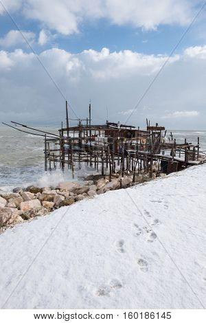 The coast of the Trabocchi (abruzzo, Italy)