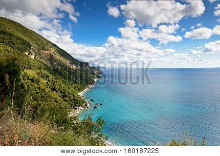 Mediterranean sea landscape near Budva, Montenegro, Europe.