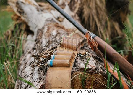hunting items. hunting concept. hunting background. concept design