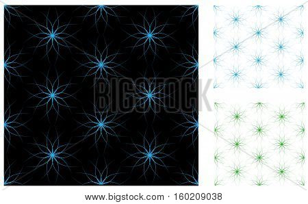 Abstract vector seamless in different colors. Pattern.