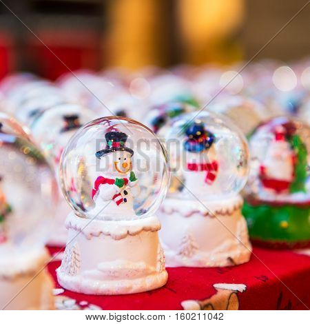 MANCHESTER ENGLAND - NOVEMBER 22 2016: Christmas Market near Town Hall on Albert Square in Manchester