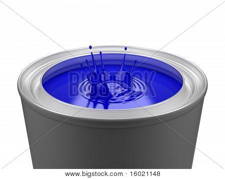 Isolated Paint Bucket