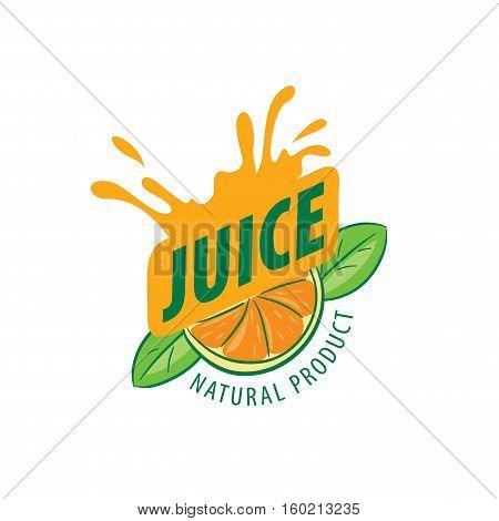 logo design template juice. Vector illustration of icon