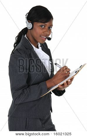 Attractive Business Woman With Headset 02