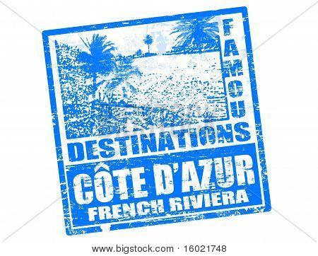 Cote D'azur Stamp