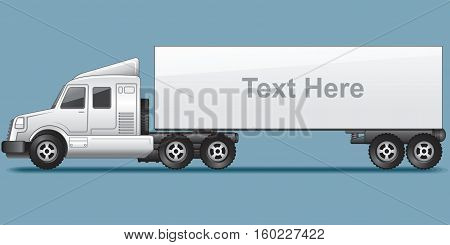Abstract Modern Long Cargo Truck. Template Ready for Your Text and Design.