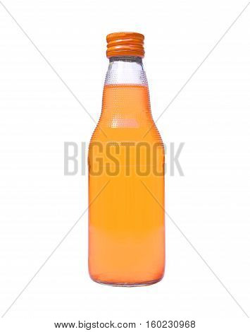 A bottle soft drinks isolated on white