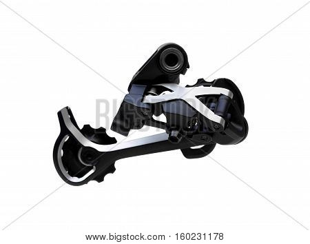 Bicycle rear derailleur for mountain bike isolated