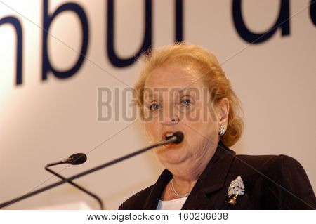 ISTANBUL, TURKEY-OCTOBER 31: Madeleine Albright spoke at the meeting of Turkish-American Friendship Association on October 31, 2003 in Istanbul,Turkey.