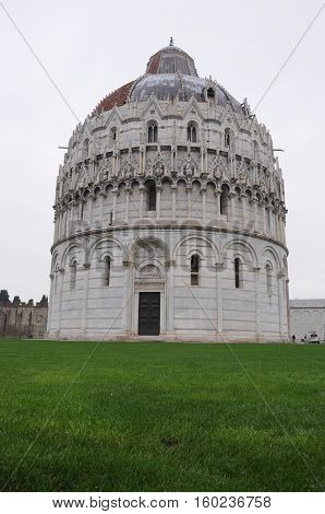 View Of The Pisa Cathedral In Pisa, Italy