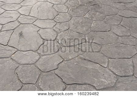 Stamp concrete texture pattern and background for outdoor floor finishing.