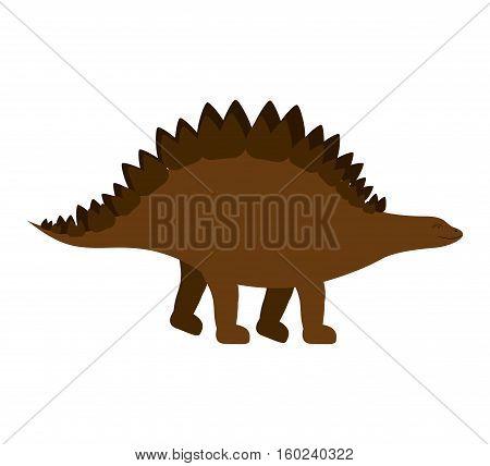 colorful cartoon with dinosaur stegosaurus vector illustration