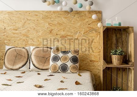 Bed And Wooden Boxes