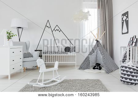 Child Room With White Furniture