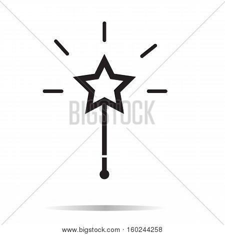 Magic wand icon on white background. Magic wand sign.