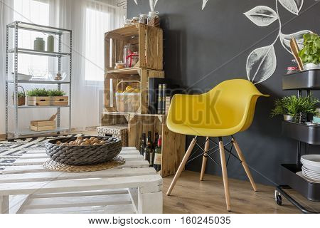 Room With Pallets Furniture